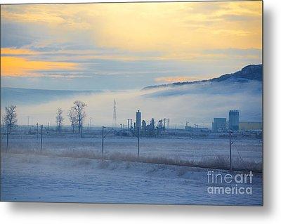 Morning Landscape In Winter Metal Print by Gabriela Insuratelu
