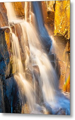 Morning Light On Lower Falls Metal Print by Marc Crumpler