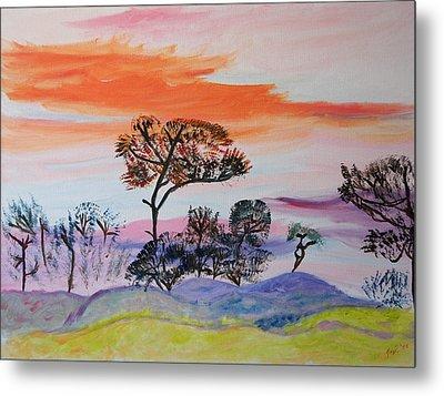 Metal Print featuring the painting Morning Skies  by Meryl Goudey