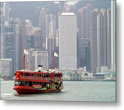 Metal Print featuring the photograph Morning Star And Connaught Centre Hong Kong by Michael Canning