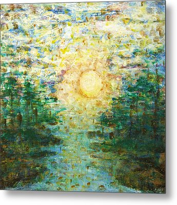 Morning Sun Metal Print by Andria Alex