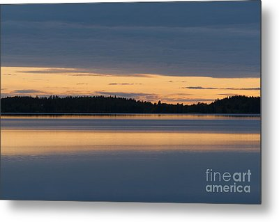 Morning Sun Rising At Arctic Sea Metal Print by Heiko Koehrer-Wagner
