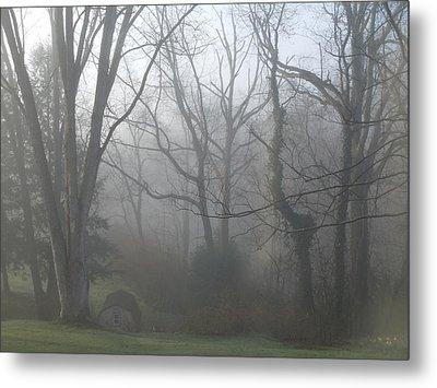 Morning Winter Fog Metal Print by James Guentner
