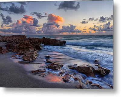 Mornings Reflections Metal Print by Claudia Domenig