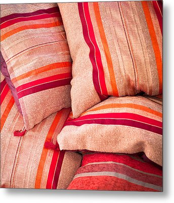 Moroccan Cushions Metal Print by Tom Gowanlock