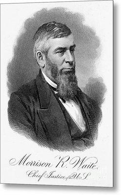Morrison R. Waite (1816-1888) Metal Print by Granger