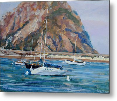 Morro Rock Metal Print by Richard  Willson