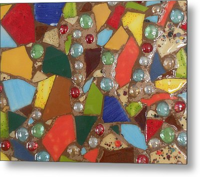 Mosaic Art 6 Metal Print by Gail Schmiedlin