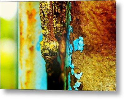 Moss And Rust II Metal Print by Toni Hopper