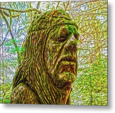 Moss Man Metal Print by Gregory Dyer