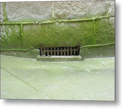 Metal Print featuring the photograph Mossy Grate by Christophe Ennis
