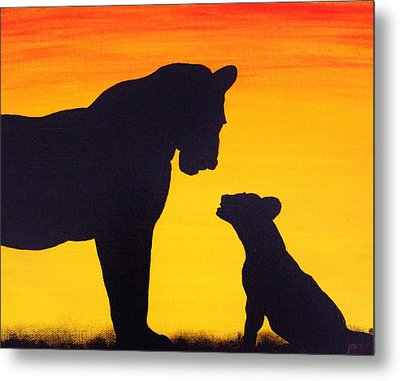 Metal Print featuring the painting Mother Africa 3 by Michael Cross