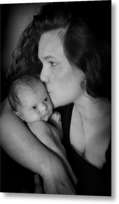 Mother And Child Metal Print by Kelly Hazel
