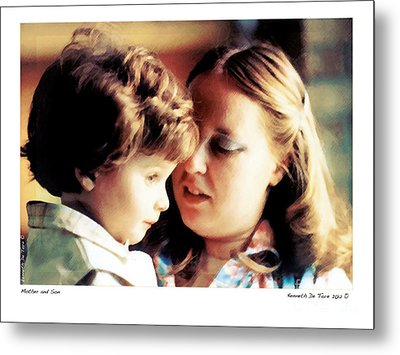 Mother And Son Metal Print by Kenneth De Tore
