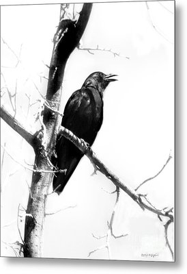 Metal Print featuring the digital art Mother Crow by Rhonda Strickland