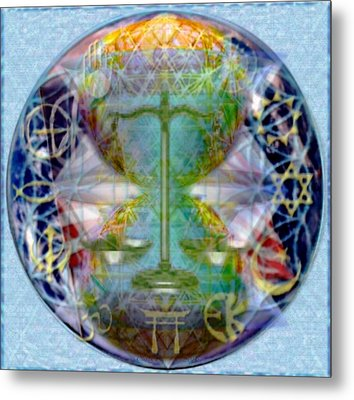 Metal Print featuring the digital art Mother Earth Balancing Peace by Christopher Pringer