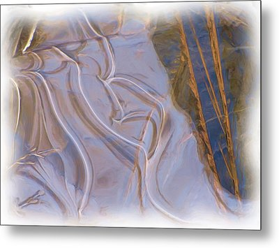 Mother Nature Does Ice Metal Print by Feva  Fotos