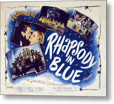 Motion Picture Poster For Rhapsody In Metal Print by Everett