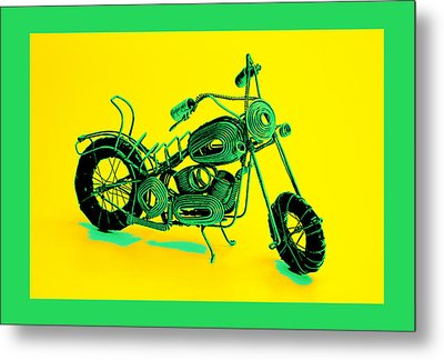 Motorbike 1b Metal Print by Mauro Celotti