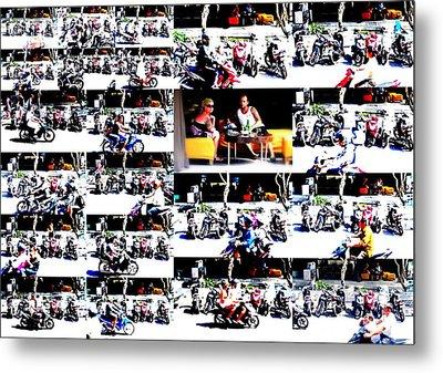 Motorbike Watching On Ubud Streets   Metal Print by Funkpix Photo Hunter