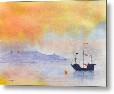 Mouille Point Mooring Cape Town Metal Print by Harold Kimmel