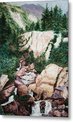 Mounrain Creek Falls Metal Print by Vikki Wicks