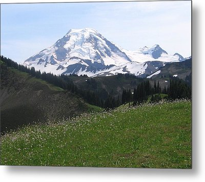 Metal Print featuring the photograph Mount Baker From The Skyline Divide by Karen Molenaar Terrell