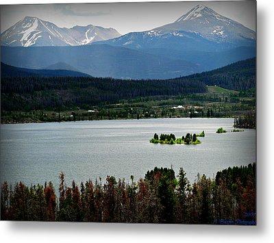 Mount Guyot And Bald Mountain Over Dillon Reservoir Metal Print
