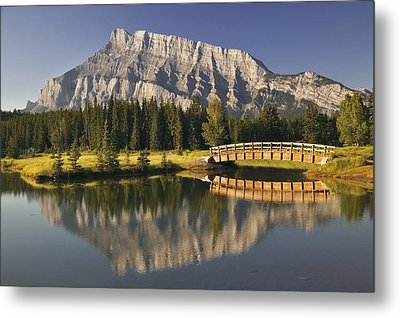 Mount Rundle And Cascade Ponds, Banff Metal Print by Darwin Wiggett