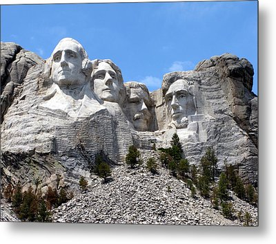 Mount Rushmore Usa Metal Print by Olivier Le Queinec