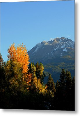 Mount Shasta Fall Metal Print