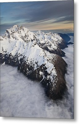 Mount Tutoko At Dawn In Fiordland Np Metal Print by Colin Monteath