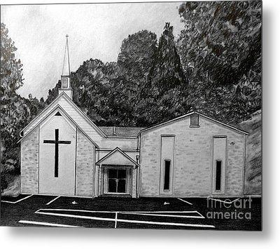 Mount Union Church Of The Brethren Metal Print by Julie Brugh Riffey