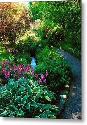 Mount Usher Gardens, Co Wicklow Metal Print by The Irish Image Collection