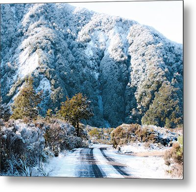 Mountain And Ice Metal Print