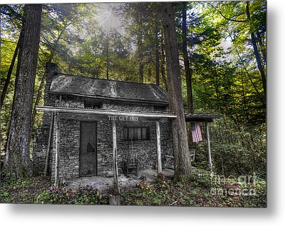 Mountain Cabin Metal Print by Dan Friend