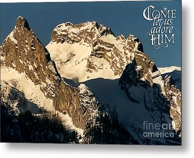 Mountain Christmas Austria Europe Metal Print by Sabine Jacobs