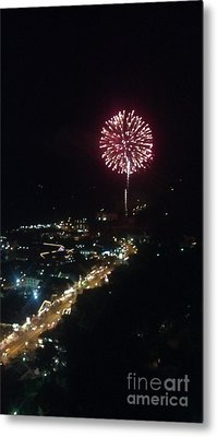 Metal Print featuring the photograph Mountain Fireworks by Janice Spivey