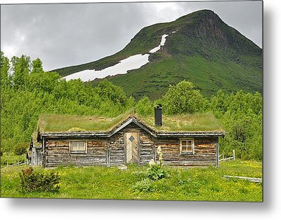 Mountain House Metal Print by Conny Sjostrom