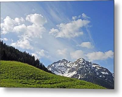 Mountain Landscape In The Alps Metal Print by Matthias Hauser