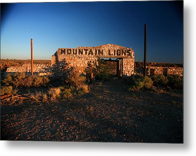 Metal Print featuring the photograph Mountain Lions At Two Guns by Lon Casler Bixby
