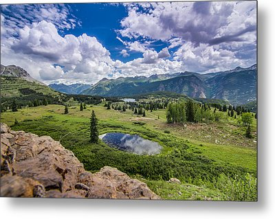 Mountain Pass Metal Print by Chris Multop
