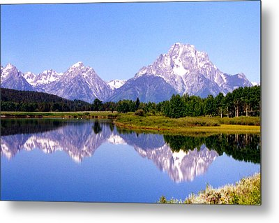 Mountain Reflections Metal Print by Carolyn Ardolino