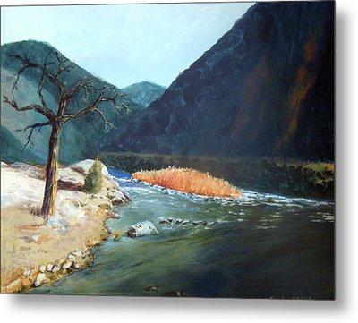Mountain River Metal Print by Stephen  Hanson