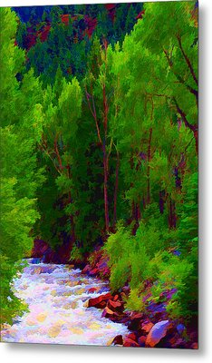 Mountain Stream Metal Print by Brian Davis