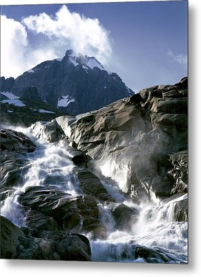Mountain Stream, Swiss Alps Metal Print by Martin Bond