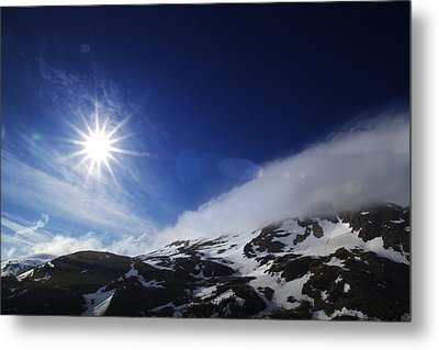 Mountain Sun Metal Print