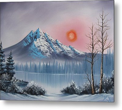Mountain Sunset Metal Print by Kevin Hill