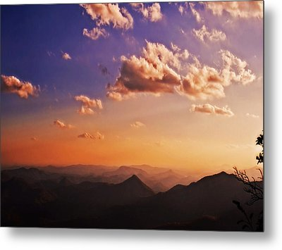 Mountain Sunset Metal Print by Susan Leggett