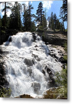 Metal Print featuring the photograph Mountain Waterfall  by Anne Raczkowski